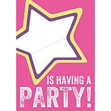Buy Dear Henry Pink Star Invitations, Pack of 8 Online at johnlewis.com
