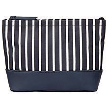 Buy John Lewis Canvas Stripe Large Wash Bag, Navy/White Online at johnlewis.com