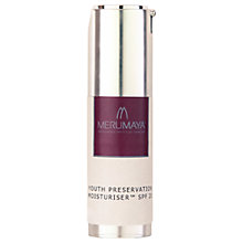 Buy MERUMAYA Youth Preservation Moisturiser SPF20, 30ml Online at johnlewis.com