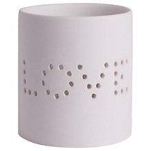 Buy Katie Loxton Love Ceramic Candle Holder, White Online at johnlewis.com