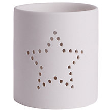Buy Katie Loxton Star Dotted Ceramic Candle Holder, White Online at johnlewis.com