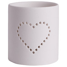 Buy Katie Loxton Heart Dotted Ceramic Candle Holder, White Online at johnlewis.com
