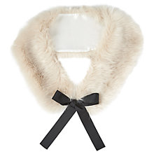 Buy Miss Selfridge Faux Fur Neck Tie, Ice Grey Online at johnlewis.com