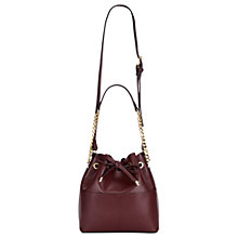 Buy Miss Selfridge Unlined Bucket Bag, Burgundy Online at johnlewis.com