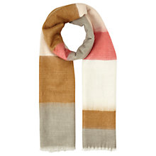 Buy Miss Selfridge Stripe Scarf, Pink Online at johnlewis.com