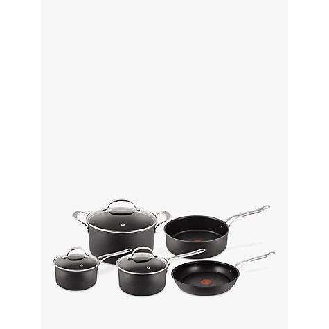 buy jamie oliver by tefal hard anodised pan set 5 pieces. Black Bedroom Furniture Sets. Home Design Ideas