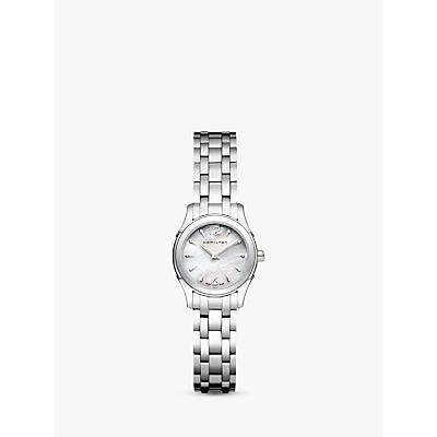 Hamilton H32261197 Women's Jazzmaster Diamond Bracelet Strap Watch, Silver