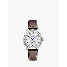 Buy Hamilton H78465553 Men's Khaki Navy Pioneer Small Second Date Leather Strap Watch, Brown/White Online at johnlewis.com