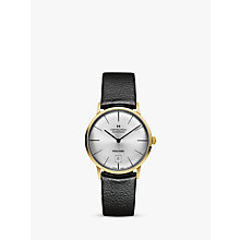 Buy Hamilton H38475751 Men's Intra-Matic Date Leather Strap Watch, Black/Silver Online at johnlewis.com