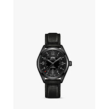 Buy Hamilton H70695735 Men's Khaki Field Day Date Automatic Rubber Strap Watch, Black Online at johnlewis.com