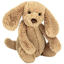 Buy Jellycat Bashful Toffee Puppy Soft Toy, Medium Online at johnlewis.com