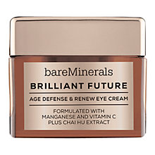 Buy bareMinerals Brilliant Future™ Age Defense & Renew Eye Cream, 15g Online at johnlewis.com
