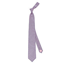 Buy Thomas Pink Gainsborough Geo Woven Silk Tie, Navy/Pink Online at johnlewis.com
