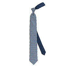 Buy Thomas Pink Blake Cloud Print Woven Silk Tie, Navy/White Online at johnlewis.com