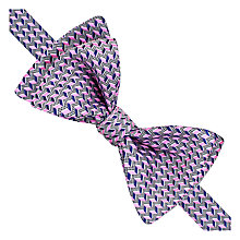 Buy Thomas Pink Gainsborough Geo Print Self Tie Silk Bow Tie, Navy/Pink Online at johnlewis.com