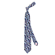Buy Thomas Pink Lely Spot Woven Silk Tie, Navy/Blue Online at johnlewis.com