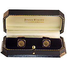 Buy Jenny Knott American Art Deco 14 Carat Gold and Enamel Cufflinks, Gold/Blue Online at johnlewis.com
