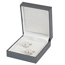 Buy Simon Carter for John Lewis Hexagonal Sterling Silver Sapphire Cufflinks, Silver Online at johnlewis.com