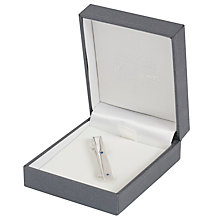 Buy Simon Carter for John Lewis Sterling Silver Sapphire Tie Clip, Silver Online at johnlewis.com