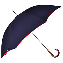 Buy Mr Stanford Lewes Umbrella, Navy/Red Online at johnlewis.com