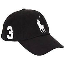 Buy Polo Ralph Lauren Big Pony Chino Baseball Cap, One Size, Black Online at johnlewis.com