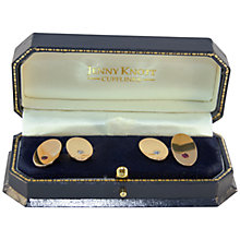 Buy Jenny Knott 18 Carat Gold Ruby and Diamond Cufflinks, Gold Online at johnlewis.com