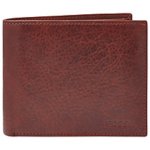 Buy Fossil Ingram Large Coin Pocket Leather Bifold Wallet, Wine Online at johnlewis.com