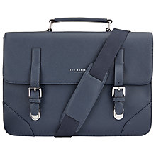 Buy Ted Baker Bulzi Cross Grain Satchel, Navy Online at johnlewis.com