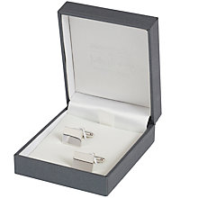 Buy Simon Carter for John Lewis Sterling Silver Plain Rectangle Cufflinks, Silver Online at johnlewis.com