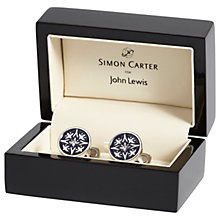 Buy Simon Carter for John Lewis Archive Cummersdale Cufflinks, Navy Online at johnlewis.com
