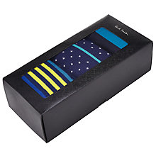 Buy Paul Smith Stripe Dot Socks, One Size, Pack of 3, Blue Online at johnlewis.com