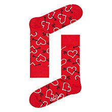 Buy Happy Socks Arrow Hearts Socks, One Size, Red Online at johnlewis.com