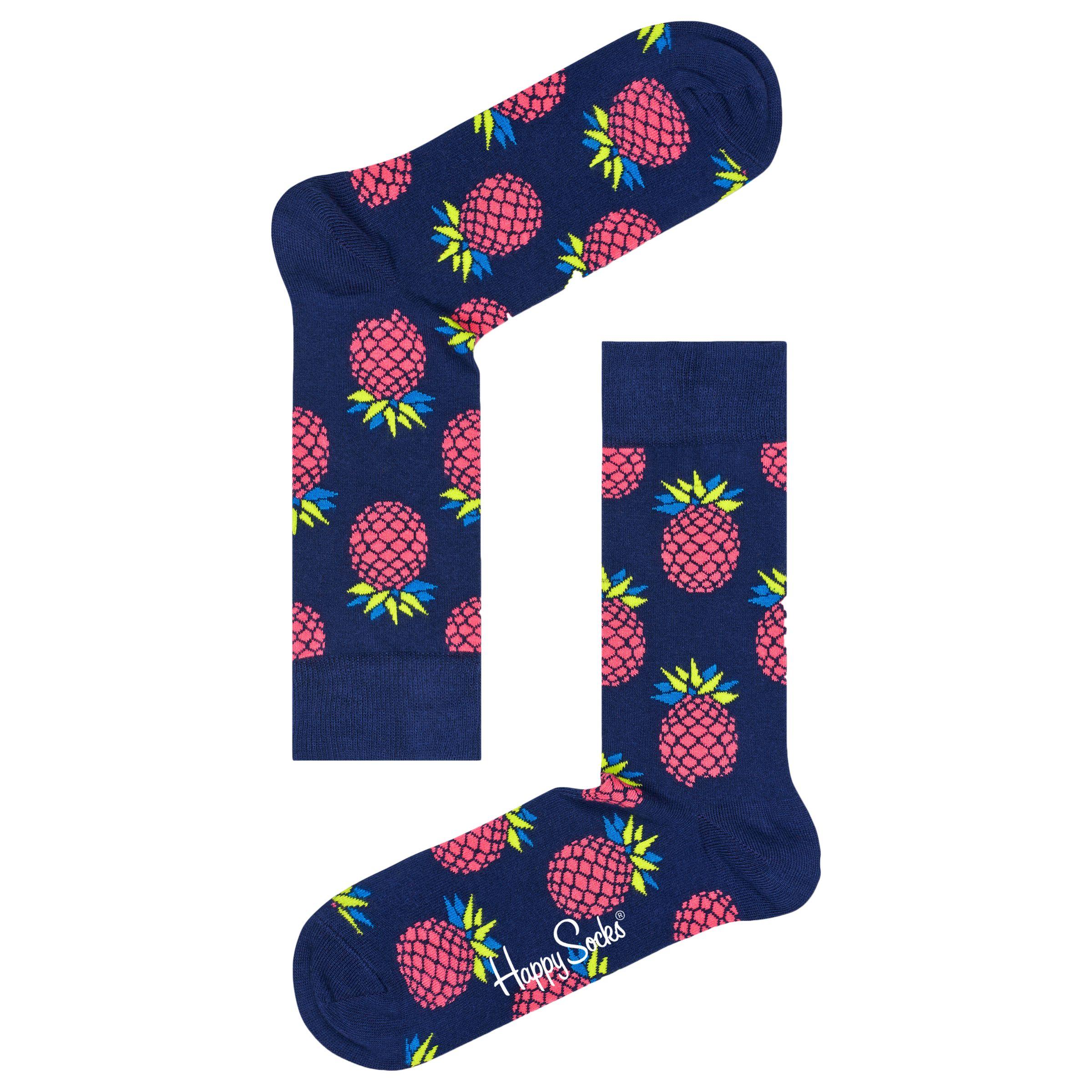 Happy Socks Happy Socks Pineapple Socks, One Size, Navy