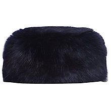 Buy Reiss Elm Faux Fur Hat, Navy Online at johnlewis.com