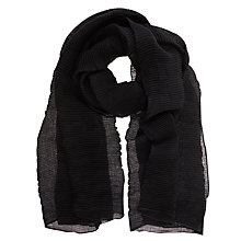 Buy Mint Velvet Crinkle Texture Scarf, Black Online at johnlewis.com