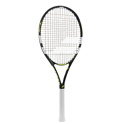 Babolat Evoke 102 Adult Beginner Aluminium Fused Graphite Tennis Racket, Grey/Yellow
