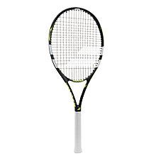 Buy Babolat Evoke 102 Adult Beginner Aluminium Fused Graphite Tennis Racket, Grey/Yellow Online at johnlewis.com