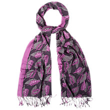 Buy White Stuff Copenhagen Leaves Scarf, Purple/Multi Online at johnlewis.com