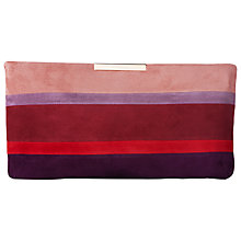 Buy L.K. Bennett Flora Clutch Bag, Roca Red Online at johnlewis.com