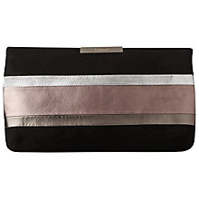 Buy L.K. Bennett Flora Leather and Suede Clutch Bag, Multi Rainbow Online at johnlewis.com