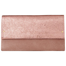 Buy L.K. Bennett Madeline Clutch Bag, Metallic Pink Online at johnlewis.com