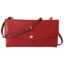 Buy L.K. Bennett Dakoda Saffiano Leather Envelope Clutch Bag, Roca Red Online at johnlewis.com