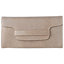 Buy L.K. Bennett Laura Clutch Bag, Blush Metallic Leather Online at johnlewis.com