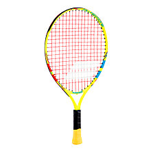 "Buy Babolat Ballfighter 19"" Junior 5 - 7 Years Old Aluminium Tennis Racket, Blue/Green Online at johnlewis.com"