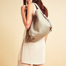 Buy Modern Rarity Rowena Soft Shoulder Bag, Cream Online at johnlewis.com