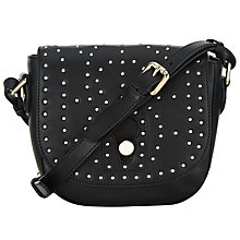 Buy Somerset by Alice Temperley Berkley Leather Saddle Bag, Black Online at johnlewis.com