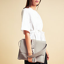 Buy Modern Rarity Rowena Leather Shoulder Bag, Cream Online at johnlewis.com