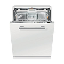 Buy Miele G6060SCVI Fully Integrated Dishwasher, White / Stainless Steel Online at johnlewis.com