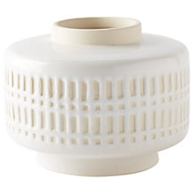 Buy west elm Art Pottery 11cm Vase, White Online at johnlewis.com