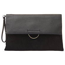 Buy Mint Velvet Leather Crescent Bar Clutch Bag, Black Online at johnlewis.com